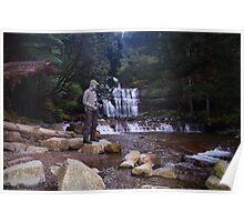 Zentai Bob tries his luck at Liffey Falls, Tasmania Australia Poster