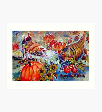 Happy Thanksgiving Art Print