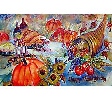 Happy Thanksgiving Photographic Print