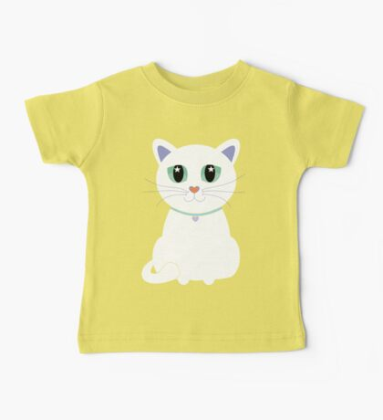 Only One White Kitty Baby Tee