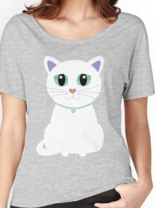 Only One White Kitty Women's Relaxed Fit T-Shirt
