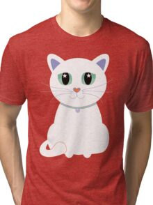 Only One White Kitty Tri-blend T-Shirt