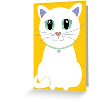 Only One White Kitty Greeting Card