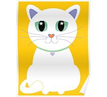 Only One White Kitty Poster