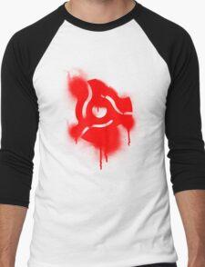 Graffiti 45 Adapter - Disc Jockey Vinyl Men's Baseball ¾ T-Shirt