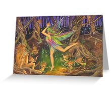 'Dancing on Faery Knoll' by Jo Morgan Greeting Card