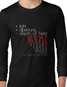 aperture + or - Long Sleeve T-Shirt