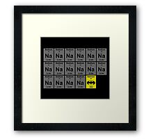 Periodic Table of Batman Framed Print