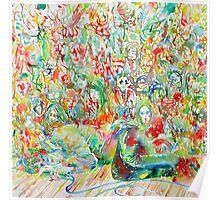 JIM MORRISON LIVE ON STAGE.1- watercolor portrait Poster