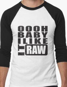 i like it raw... Men's Baseball ¾ T-Shirt
