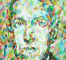 H.P. LOVECRAFT watercolor portrait by lautir