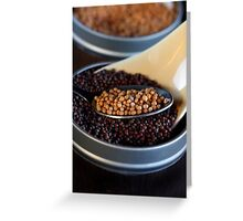 Yellow and Brown Grain of Mustard Seed Greeting Card
