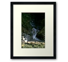Rocky Waterfall Framed Print