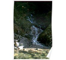 Rocky Waterfall Poster