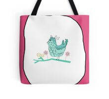 Birdy Pink Tote Bag