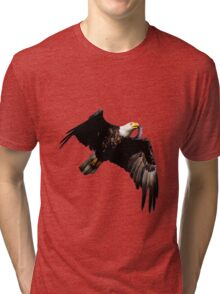 Eagle In Flight With Fish in Mouth Tri-blend T-Shirt
