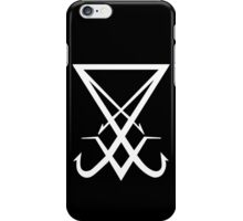THE SIGIL OF LUCIFER - solid white iPhone Case/Skin