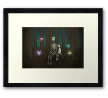 Robot and the Girl Framed Print