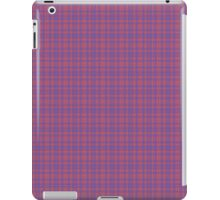 Vibrant Blue and Pink Plaid iPad Case/Skin