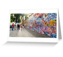 Lennon Wall_3 Greeting Card