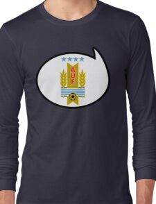 Uruguay Soccer / Football Fan Shirt / Sticker Long Sleeve T-Shirt