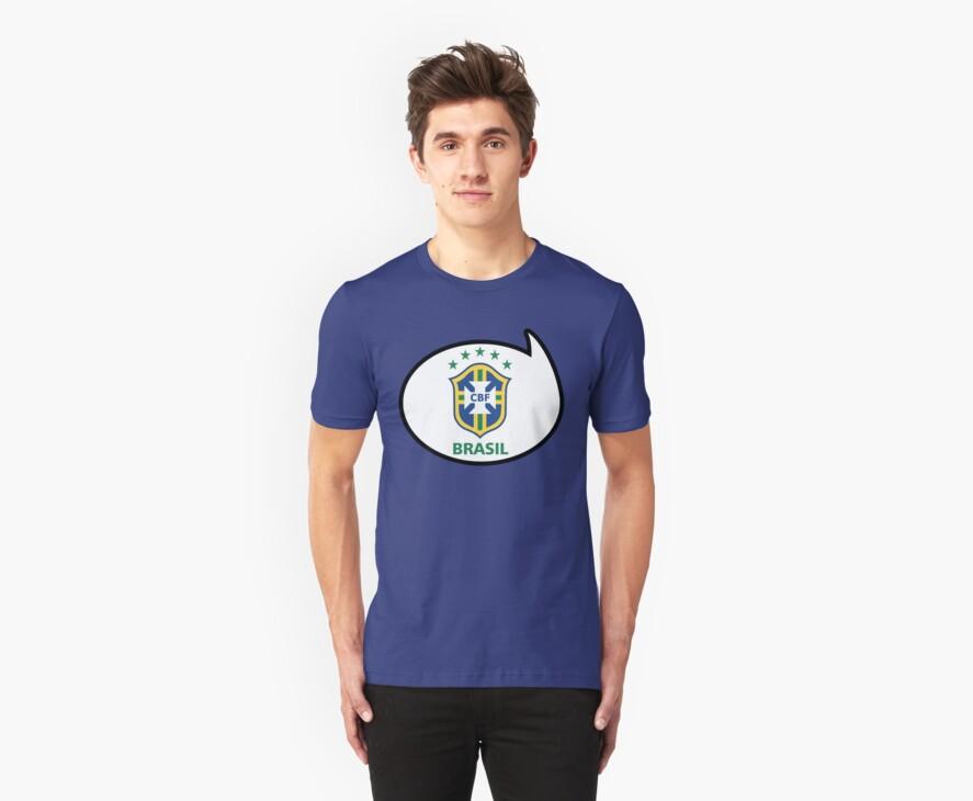 Brazil Soccer / Football Fan Shirt / Sticker by funaticsport