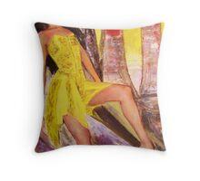 Lambada (A Portrait of Zenora Bharos) Throw Pillow