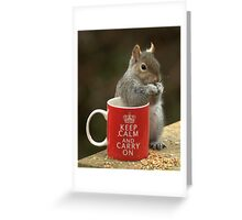 Keep Calm and Nibble Nuts Greeting Card