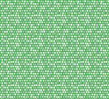 Shades of Green Squares by pjwuebker