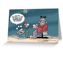 Two and a Half Wise Men Greeting Card