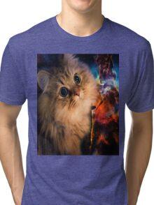 Spaced Kitten Tri-blend T-Shirt