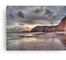Devon coastline view Canvas Print