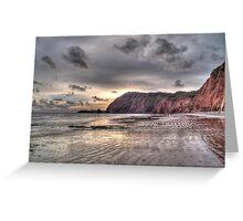 Devon coastline view Greeting Card