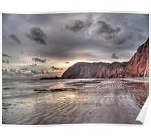 Devon coastline view Poster