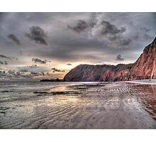 Devon coastline view Photographic Print