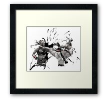 Ronda Rousey knocked out by Holly Holm Framed Print