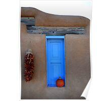 Taos Blue Window Poster