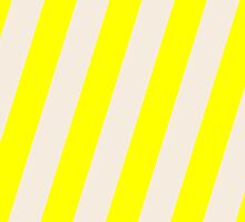 Iphone Case - Yellow & Buttermilk Cream - Broad diagonal Stripes by chompo