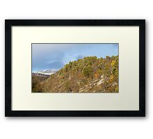 First snowfall. Framed Print