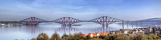 Train on the Forth Bridge by Tom Gomez
