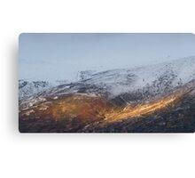 Sunlit mountain. Canvas Print