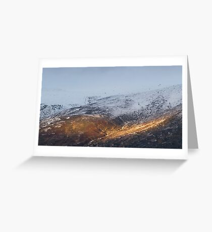 Sunlit mountain. Greeting Card