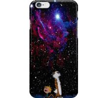 Calvin and hobbes forever friends iPhone Case/Skin