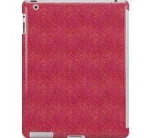 Orange Micro Dots on Grunge Red iPad Case/Skin