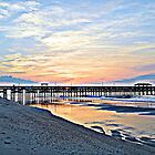 Morning At The Pier in HDR by Dawne Dunton