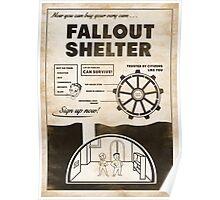 Fallout Shelter Propaganda Poster Poster