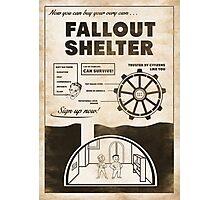 Fallout Shelter Propaganda Poster Photographic Print