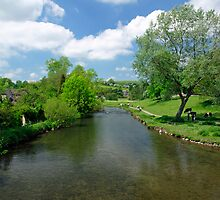 The River Wye from Bakewell Bridge  by Rod Johnson