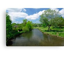 The River Wye from Bakewell Bridge  Canvas Print