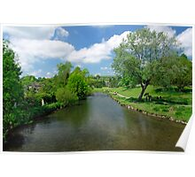 The River Wye from Bakewell Bridge  Poster
